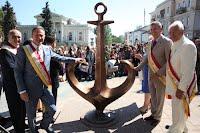 Логотип Одессы - в бронзе