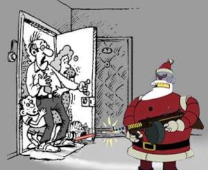 Дед мороз... с пистолетом